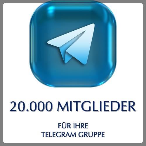 20000 telegram gruppenmitglieder