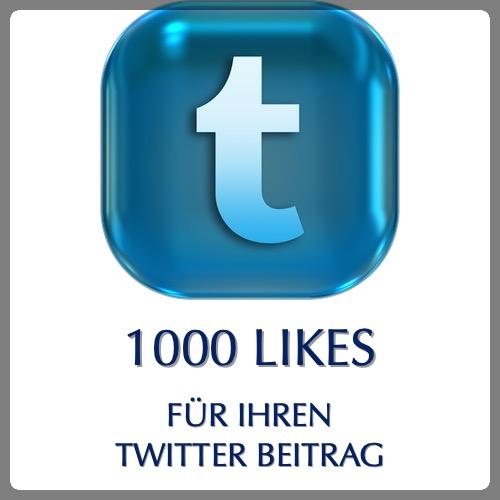 1000 likes für twitter